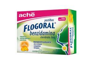 Flogoral Benzidamina Pastilhas Sabor Laranja Com 12 Pastilhas
