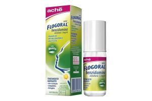 Flogoral Benzidamina Spray Sabor Menta Com 30 ml