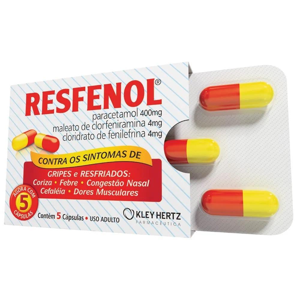 Resfenol Com 5 Cápsulas