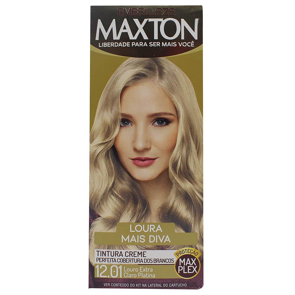 Tintura Maxton 12.01 Louro Extra Claro Platina
