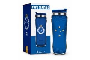 Copo Térmico Plast Inox Times New  - Cruzeiro 450 ml Ref 2882