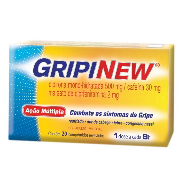 GripiNew Com 20 Comprimidos