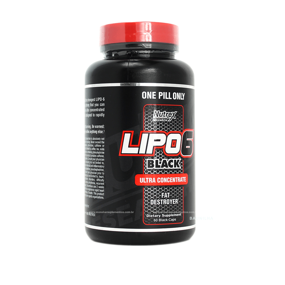 Lipo6 Black Ultra Concentrado Com 60 Cápsulas Nutrex Research