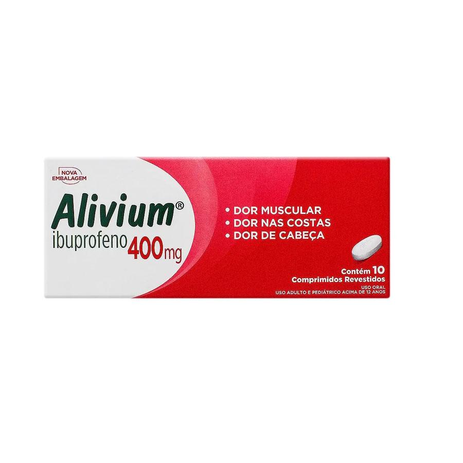 Alivium Com 10 Comprimidos 400 mg