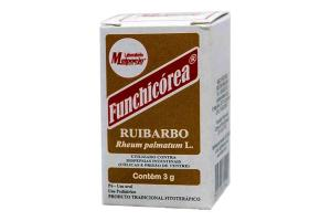 Funchicórea Ruibarbo Em Pó Com 3 g