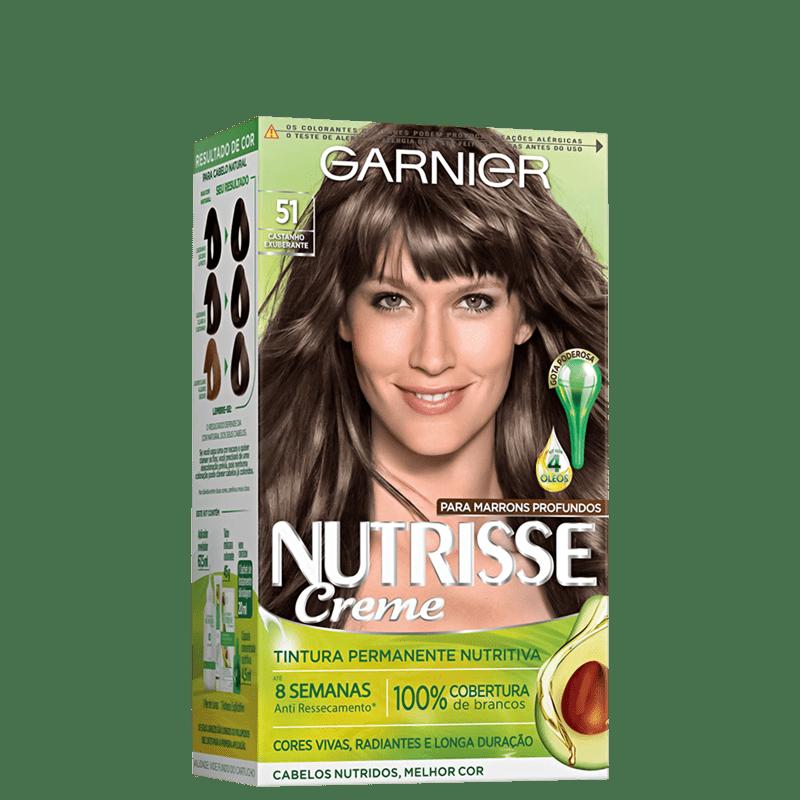Tintura Garnier Nutrisse Creme 51 Castanho Exuberante
