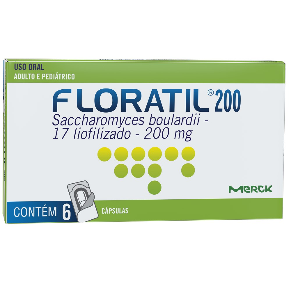 Floratil 200 mg Com 6 Cápsulas