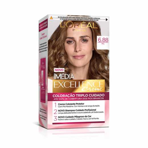 Tintura L'Oréal Paris Imédia Excellence Creme 6.88 Mel
