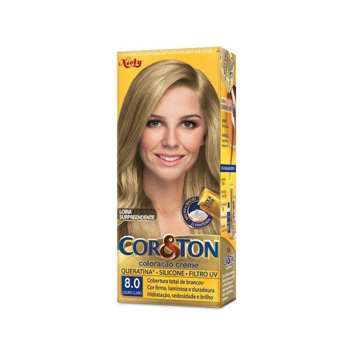 Tintura Cor & Ton 8.0 Louro Claro