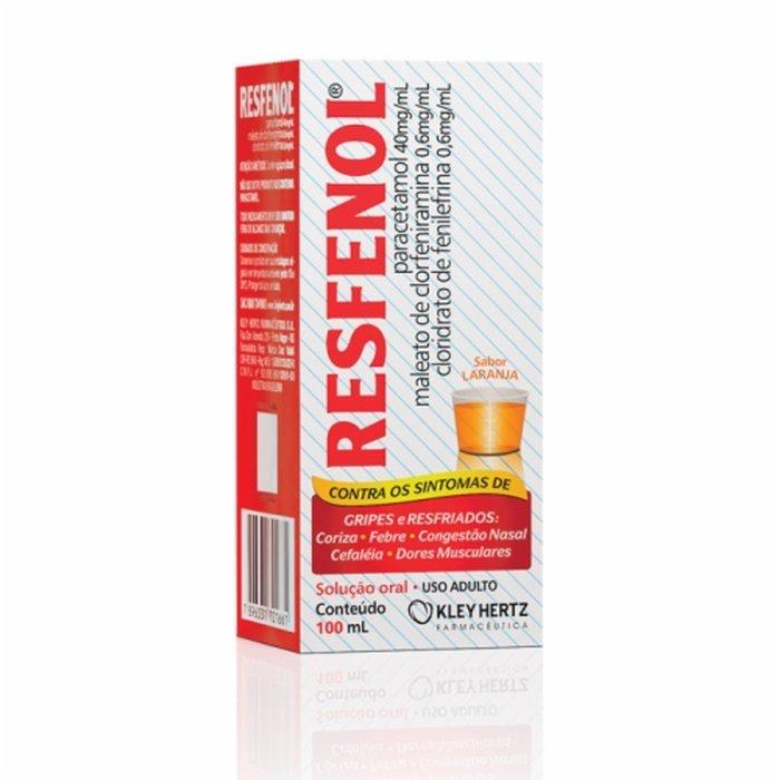 Resfenol Solução Oral  Sabor Laranja 100mL