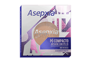 Asepxia Pó Compacto Bege Claro 10g