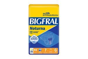 Fralda Bigfral Noturna Tamanho G Com 7 Unidades