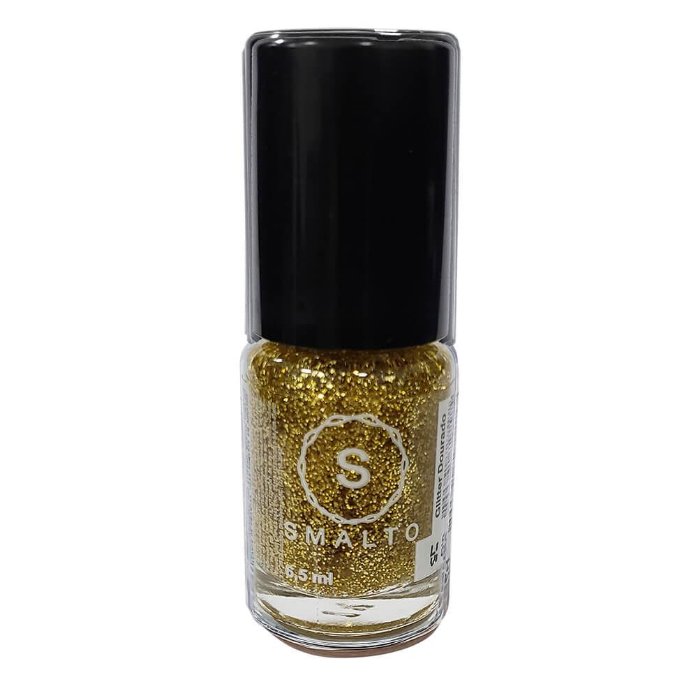 Esmalte Smalto Glitter Dourado