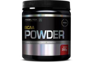 BCAA Powder Sabor Morango Com 200g Probiótica