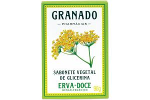 Granado Sabonete Vegetal de Glicerina Erva-Doce Hipoalergênico 90 g