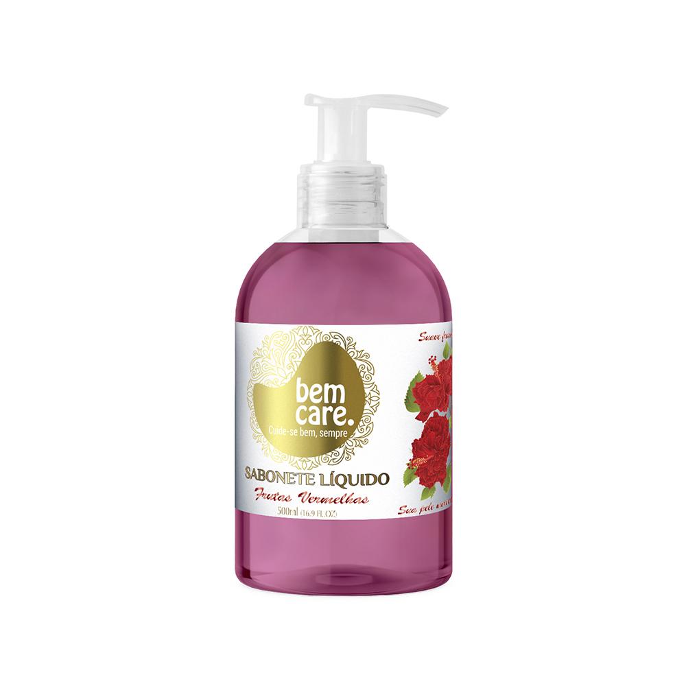 Sabonete Liquido Bem Care Frutas Vermelhas 500ml