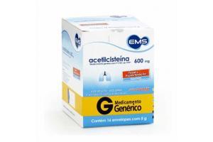 acetilcisteina 600mg Com 16 envelopes EMS GENERICO