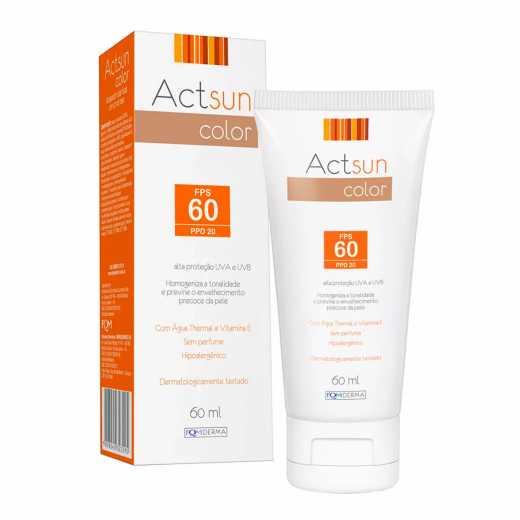 Protetor Solar Facial Actsun Color FPS 60 60ml