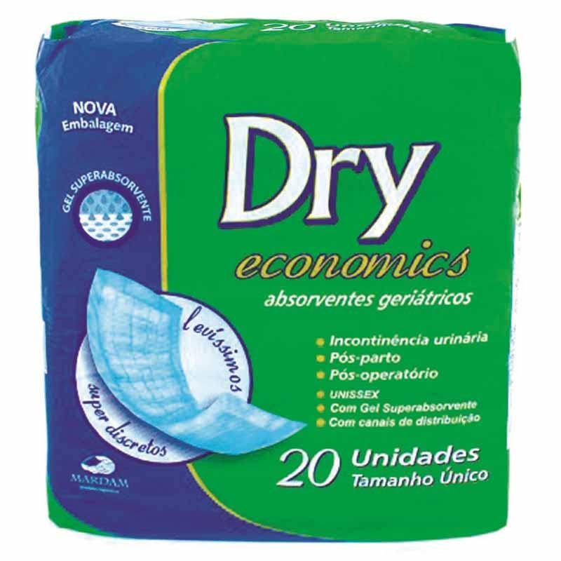 Absorvente Geriatrico Dry Economics Com 20 Unidades