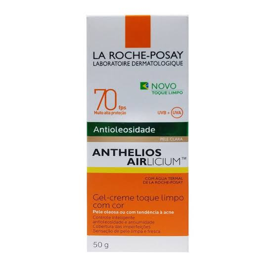 Protetor Solar Facial Antioleosidade Anthelios  Pele Clara FPS 70 50g