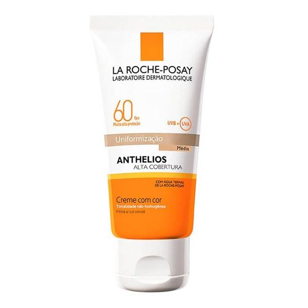 Protetor Solar Facial Anthelios Alta Cobertura Uniformização Média FPS 60 40ml