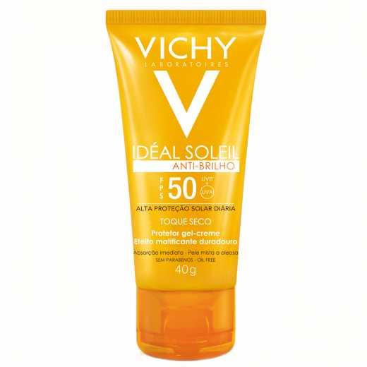 Protetor Solar  Facial Vichy Idéal Soleil Antibrilho Toque Seco FPS 50 40g