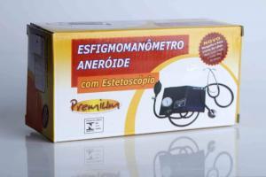 Kit Esfigmomanômetro Aneróide com Estetoscópio Premium