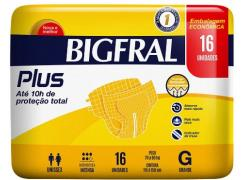 Fralda Geriátrica Bigfral Plus Tamanho G Com 16 Unidades