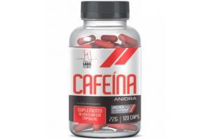 Cafeína Anidra Com 120 Cápsulas Health Labs