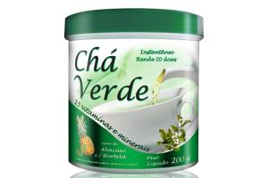Chá Verde Sabor Abacaxi Com Hortelã Com 200g Health Labs