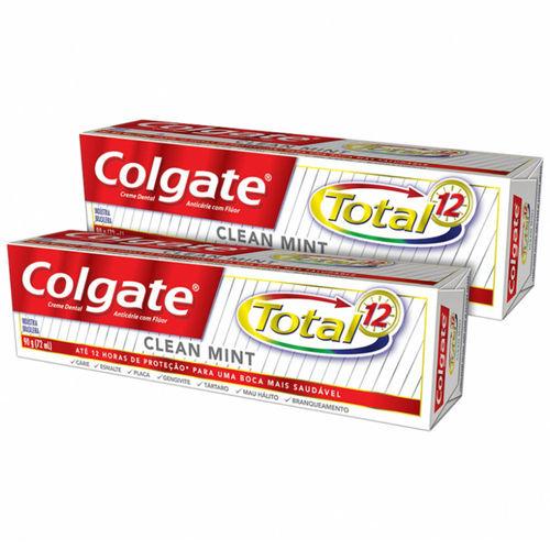 Creme Dental Colgate Total 12 Clean Mint 2 Unidades De 90g Cada