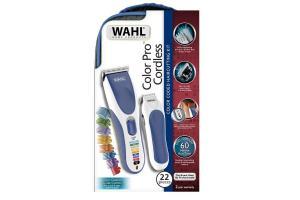 Máquina de Cortar Cabelo Color Pro Cordless Kit Com 22 Peças Wahl
