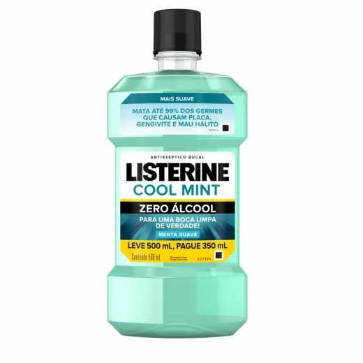 Antisséptico Bucal Listerine Cool Mint Zero Álcool Leve 500ml Pague 350ml