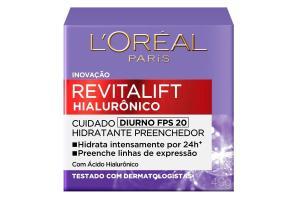 Creme Facial Diurno FPS 20 Antirrugas Revitalift Hialurônico L'oréal Paris 49g