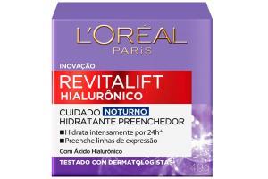 Creme Facial Noturno Antirrugas Revitalift Hialurônico L'oréal Paris 49g