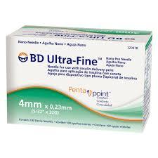 Agulha BD Ultra-Fine 4mm Penta point 10 unidades
