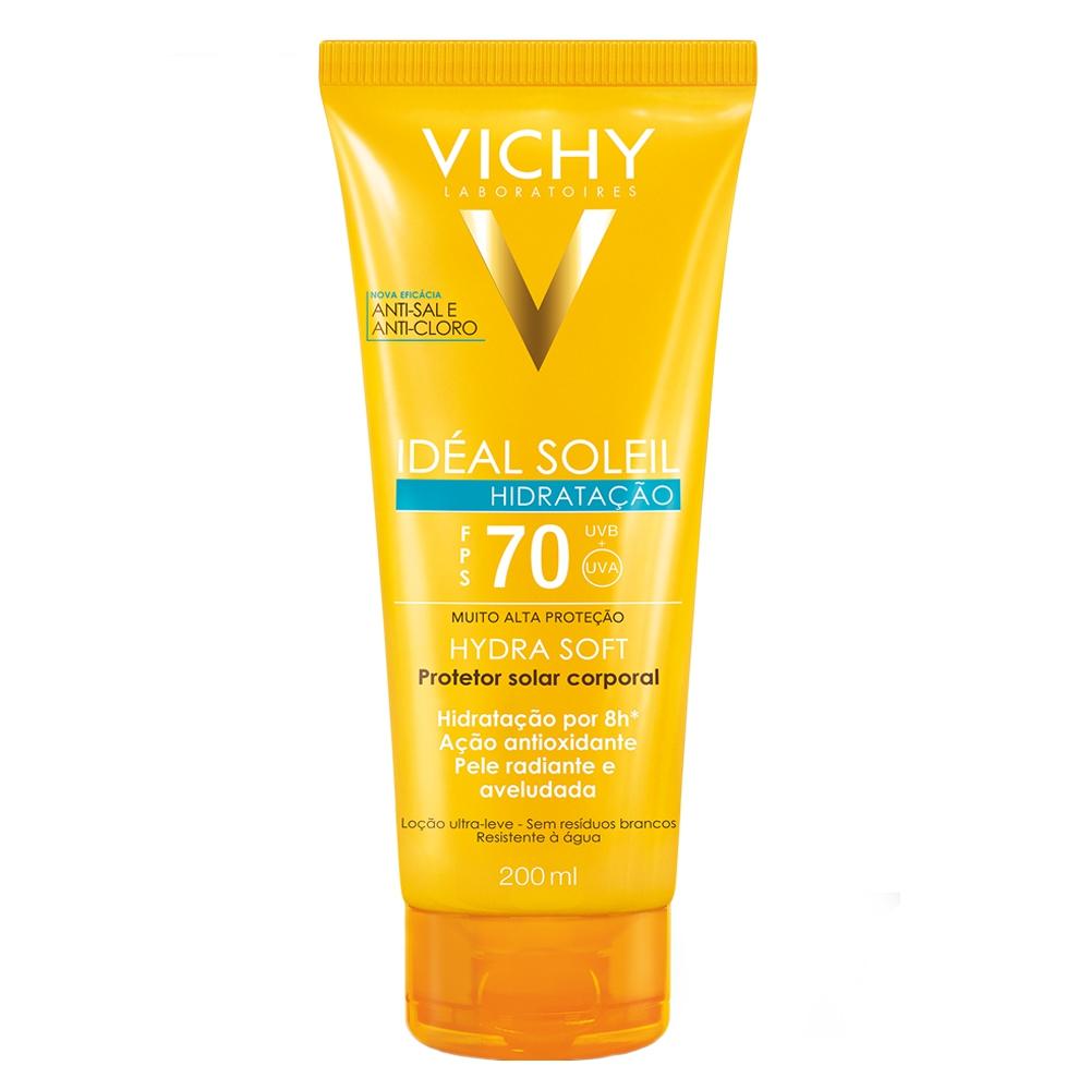 Protetor Solar Vichy Idéal Soleil Hydra Soft Hidratação FPS 70 200ml