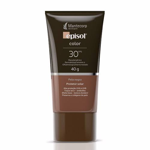 Protetor Solar Episol Color FPS 30 Pele Negra 40g