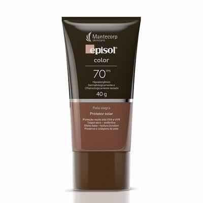 Protetor Solar Episol Color FPS 70 Pele Negra 40g