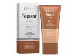 Protetor Solar Facial Episol Color FPS 70 Pele Morena 40g