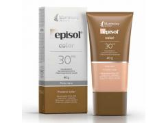 Protetor Solar Facial Episol Color FPS 30 Pele Clara 40g