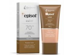 Protetor Solar Facial Episol Color FPS 70 Pele Clara 40g