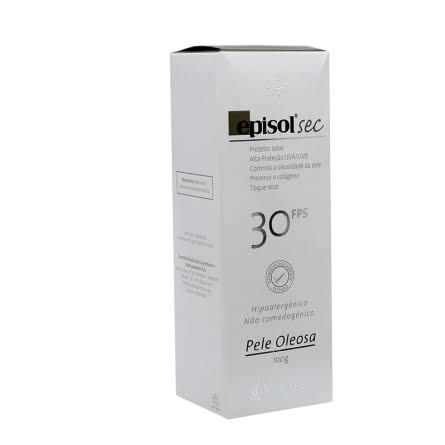 Protetor Solar Episol Sec FPS 30 Pele Oleosa 100g