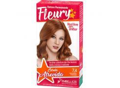 Tintura Fleury 7.4 Louro Médio Acobreado
