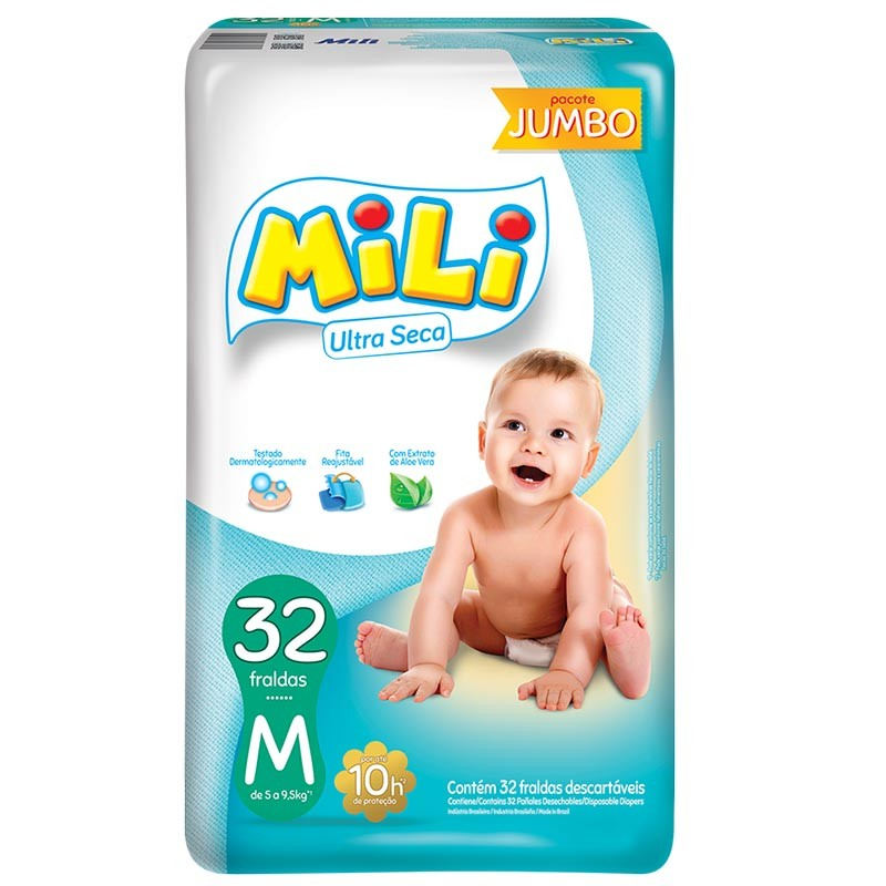 Fralda Mili M Com 32 Unidades