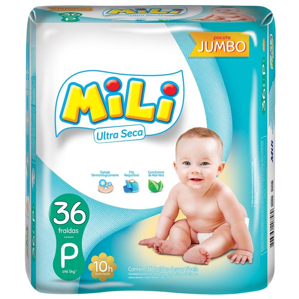 Fralda Mili P Com 36 Unidades