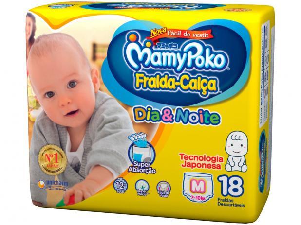 Fralda Calça MamyPoko Dia & Noite M Com 18 Unidades