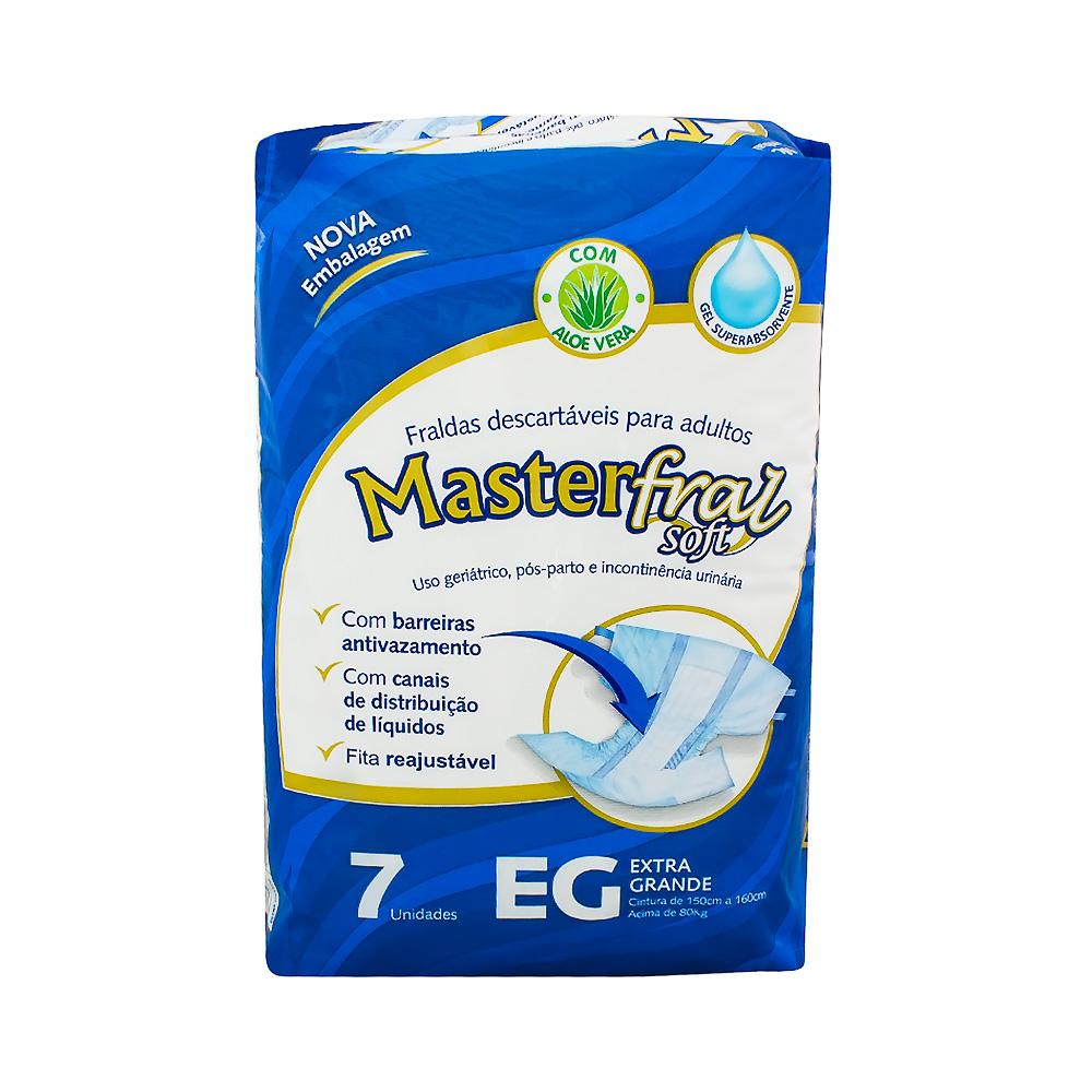 Fralda Geriatrica MasterSoft EG Com 07 Unidades