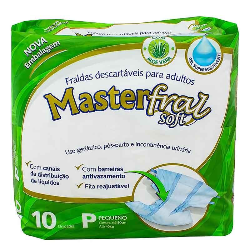 Fralda Geriatrica MasterSoft P Com 10 Unidades