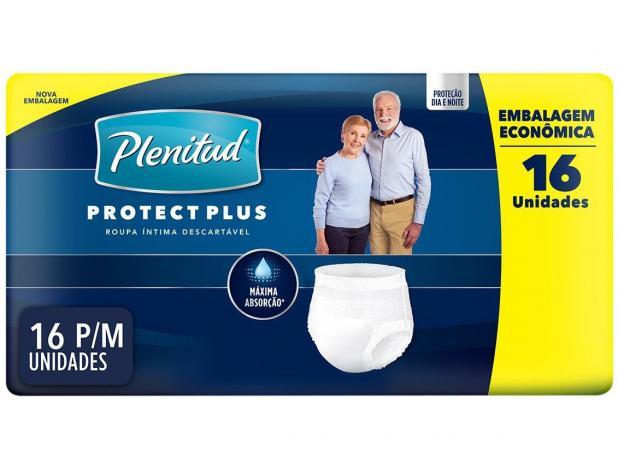 Fralda Geriatrica Plenitud Protect Plus P/M Com 16 Unidades